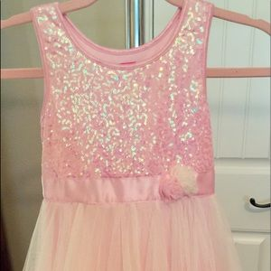 Pinky Girls Pastel Pink Sparkly Embellished Dress